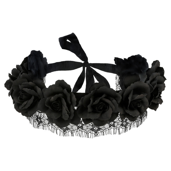 Haarband - Black Blossom
