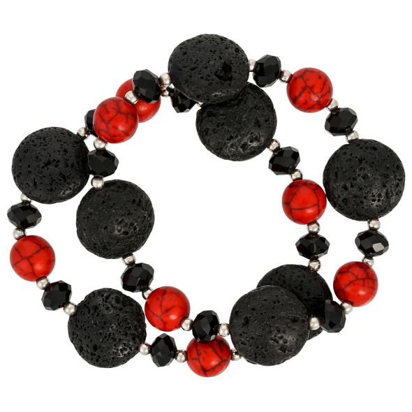 Armband-Set - Red Lava