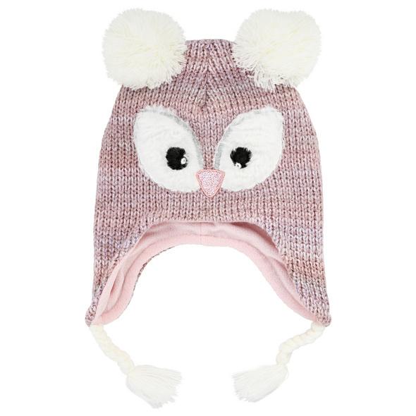Kinder Mütze - Pinkish Owl