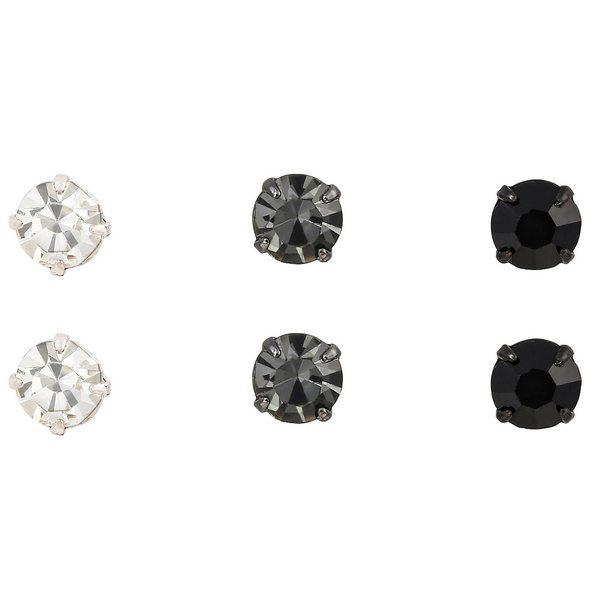 Ohrstecker - Three Diamond Glam