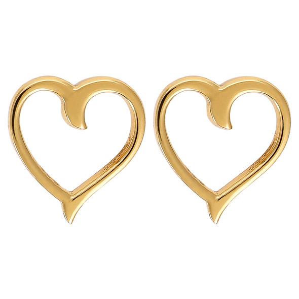Ohrstecker - Golden Heart 2