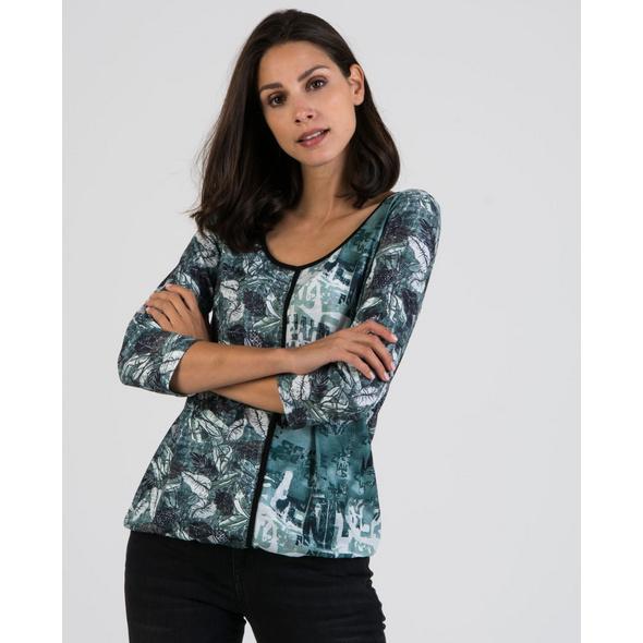 Ausgefallenes T-Shirt in Seegras