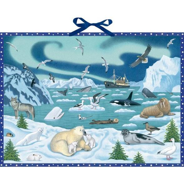 Wand-Adventskalender - Tiere der Arktis