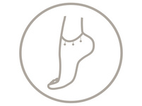 Fußkettchen - Silver Anchor