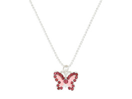 Kinder Kette - Rosa Schmetterling