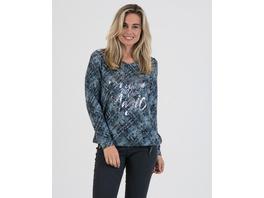 Sweatshirt mit tonigem Karoprint