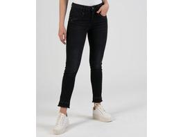 Schwarze Jeans mit Stickerei