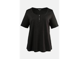T-Shirt, Knopfleiste, Regular, Rundhals, Öko-Tex 100